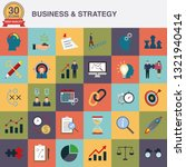 business and strategy flat...   Shutterstock .eps vector #1321940414