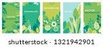 vector set of abstract... | Shutterstock .eps vector #1321942901