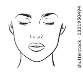 beautiful woman portrait. face... | Shutterstock .eps vector #1321950494