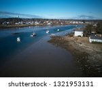 aerial drone image of moored... | Shutterstock . vector #1321953131
