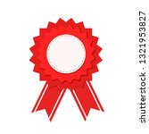 red seal guarantee with ribbon  ... | Shutterstock .eps vector #1321953827