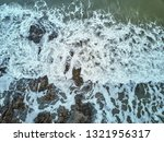 aerial drone image of a rocky... | Shutterstock . vector #1321956317