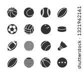 vector set of sports balls... | Shutterstock .eps vector #1321962161