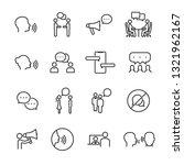 vector set of talking people... | Shutterstock .eps vector #1321962167