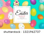 abstract easter sale template... | Shutterstock .eps vector #1321962737