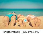 happy family on summer vacation.... | Shutterstock . vector #1321963547