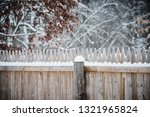 weathered wood fence covered in ... | Shutterstock . vector #1321965824