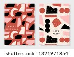 a set of two greeting card... | Shutterstock .eps vector #1321971854