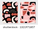 a set of two greeting card... | Shutterstock .eps vector #1321971857
