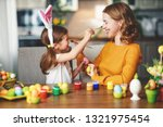 happy easter  family mother and ... | Shutterstock . vector #1321975454