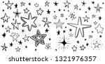 hand drawn doodle stars  vector ...   Shutterstock .eps vector #1321976357