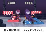 karting sport competition.... | Shutterstock .eps vector #1321978994