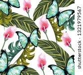 beautiful tropical flowers... | Shutterstock .eps vector #1321979567