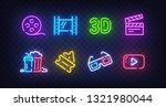 cinema icon set isolated. movie ... | Shutterstock .eps vector #1321980044