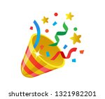 multicolored shiny cone... | Shutterstock .eps vector #1321982201