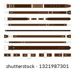 leather belts. brown leathers... | Shutterstock .eps vector #1321987301