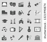 culture icons. sticker design.... | Shutterstock .eps vector #1321990874