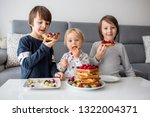 sweet toddler birthday boy and... | Shutterstock . vector #1322004371