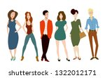 people of different sexes... | Shutterstock .eps vector #1322012171