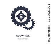 cogwheel machine part icon on... | Shutterstock .eps vector #1322021021