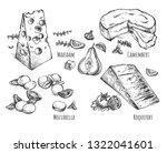 vector illustration of cheese... | Shutterstock .eps vector #1322041601