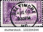 usa   circa 1934  a stamp... | Shutterstock . vector #132204344