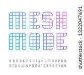 linear font. vector alphabet... | Shutterstock .eps vector #1322047691