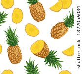vector summer pattern with... | Shutterstock .eps vector #1322056034
