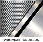 metallic background 3d silver... | Shutterstock .eps vector #1322060687