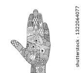 vector illustration of zen... | Shutterstock .eps vector #1322064077