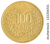Colombian Pesos Coin Isolated...