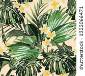 floral seamless tropical... | Shutterstock .eps vector #1322066471