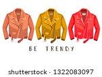 leather jacket. be trendy. ... | Shutterstock . vector #1322083097