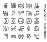 public toilet icon set. signs... | Shutterstock .eps vector #1322090957