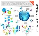 infographic design elements.... | Shutterstock .eps vector #132209441