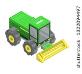 farm machinery icon. isometric... | Shutterstock .eps vector #1322094497
