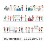 set of business people working... | Shutterstock .eps vector #1322104784