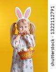 cute adorable caucasian blonde... | Shutterstock . vector #1322112791