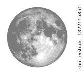 realistic full moon. astrology...   Shutterstock .eps vector #1322115851