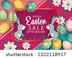 happy easter sale banner... | Shutterstock .eps vector #1322118917