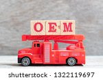red fire truck hold letter... | Shutterstock . vector #1322119697