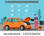 flat banner computer... | Shutterstock .eps vector #1322126414