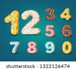 font of donuts. bakery sweet... | Shutterstock .eps vector #1322126474