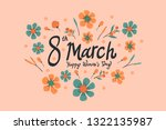 international women's day... | Shutterstock .eps vector #1322135987