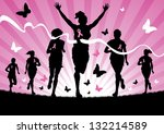 women running | Shutterstock .eps vector #132214589