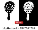 black and white vector... | Shutterstock .eps vector #1322145944
