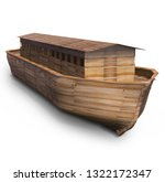 Noah's Ark  Isolated On White....