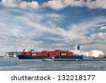Large Container Ship Entering...