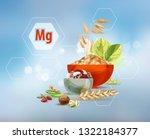 magnesium. scientific research. ... | Shutterstock .eps vector #1322184377