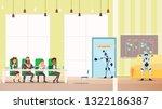 robot job interview process in...   Shutterstock .eps vector #1322186387